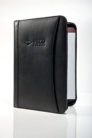 PECO Pallet Zippered Padfolio with Calculator